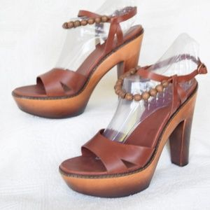 72e61cc9994 UGG Shoes - UGG NAIMA wood clog beaded platform sandel heel